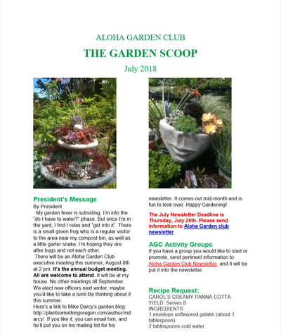 Monthly Meetings And Newsletter Aloha Garden Club